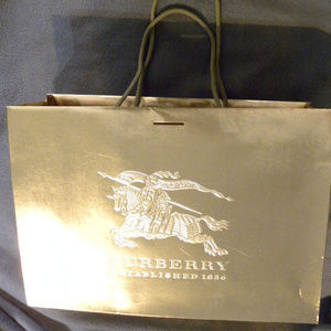 Burberry Paper Gift Shopping Bag Gold Foil Large